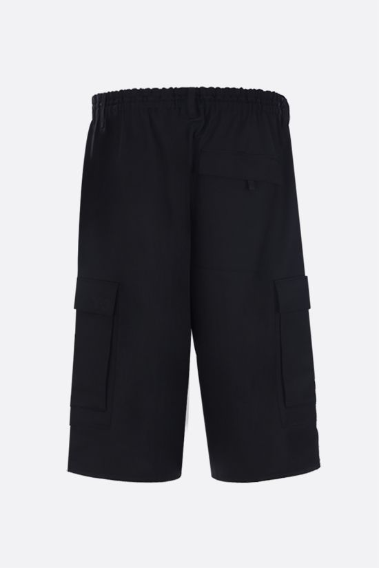 Y-3: Y-3 Classic Logo technical wool cargo shorts Color Black_2