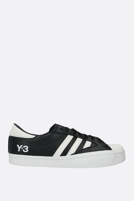 Y-3: Yohji Star smooth leather sneakers Color Black_1