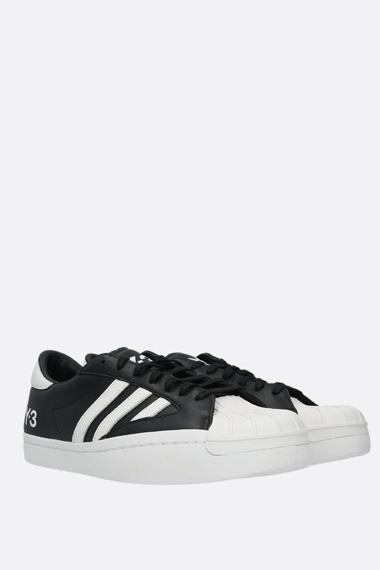 Y-3: Yohji Star smooth leather sneakers Color Black_2
