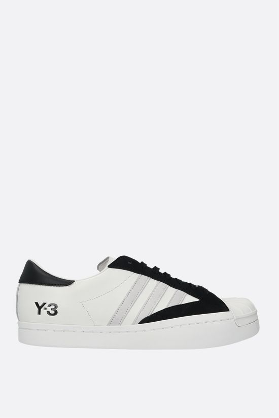 Y-3: Yohji Star smooth leather sneakers Color White_1