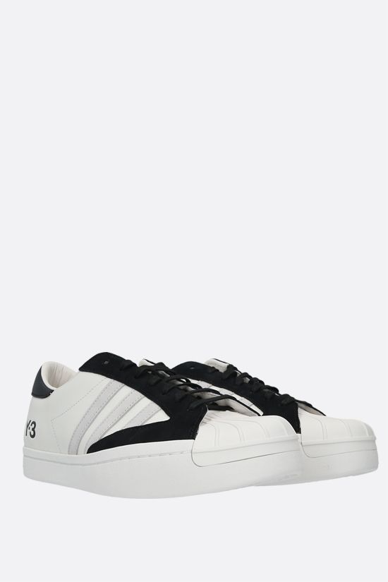 Y-3: Yohji Star smooth leather sneakers Color White_2