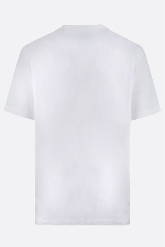 Y-3: t-shirt in cotone stampa Y-3 Colore Bianco_2