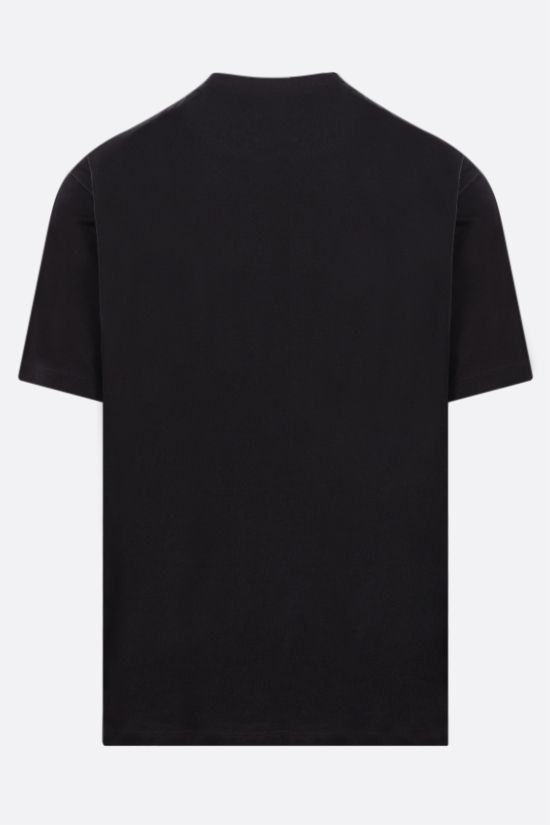 Y-3: Square Label cotton t-shirt Color Black_2