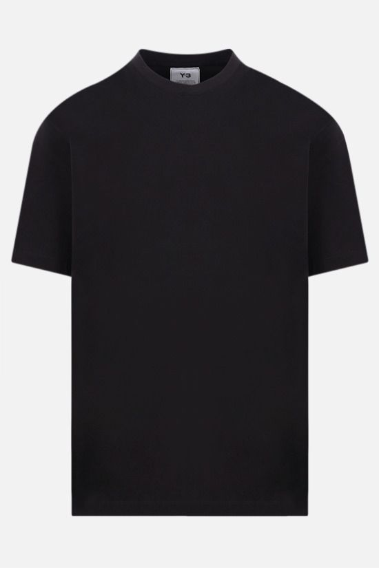 Y-3: 3-Stripes cotton t-shirt Color Black_1