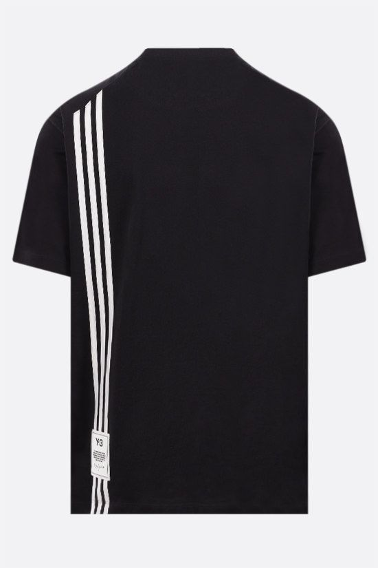 Y-3: 3-Stripes cotton t-shirt Color Black_2