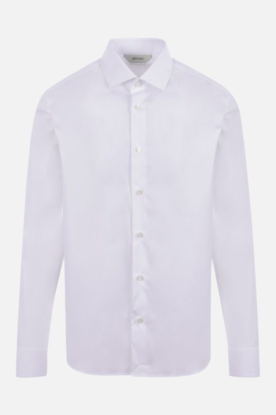 Z ZEGNA: stretch cotton shirt Color White_1