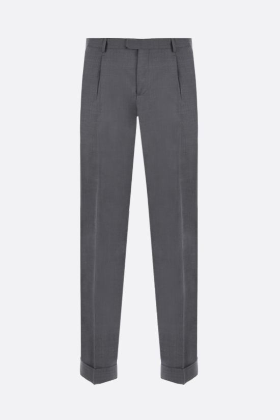 Z ZEGNA: wool darted pants Color Grey_1