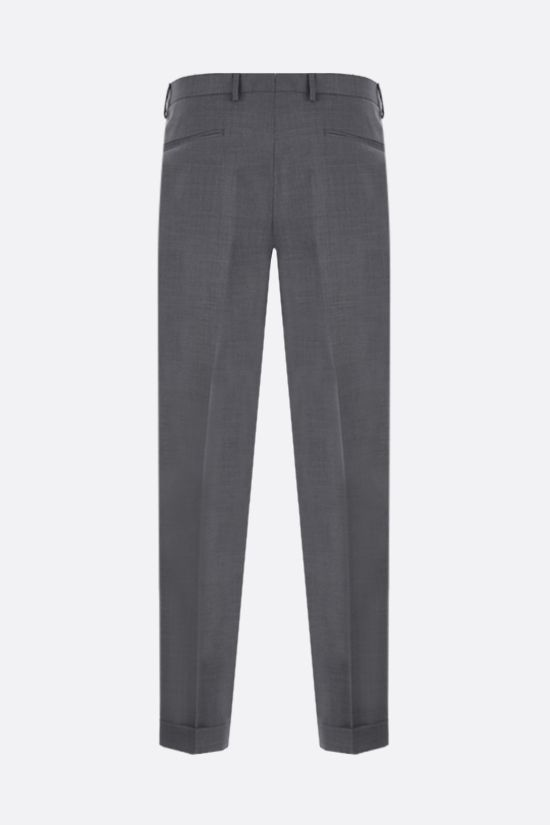 Z ZEGNA: wool darted pants Color Grey_2