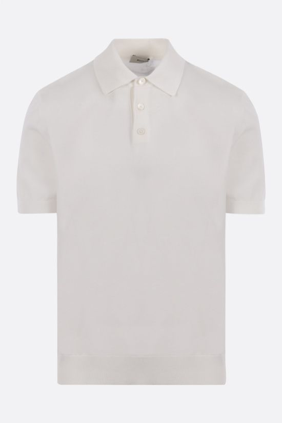 Z ZEGNA: cotton knit polo shirt Color Neutral_1