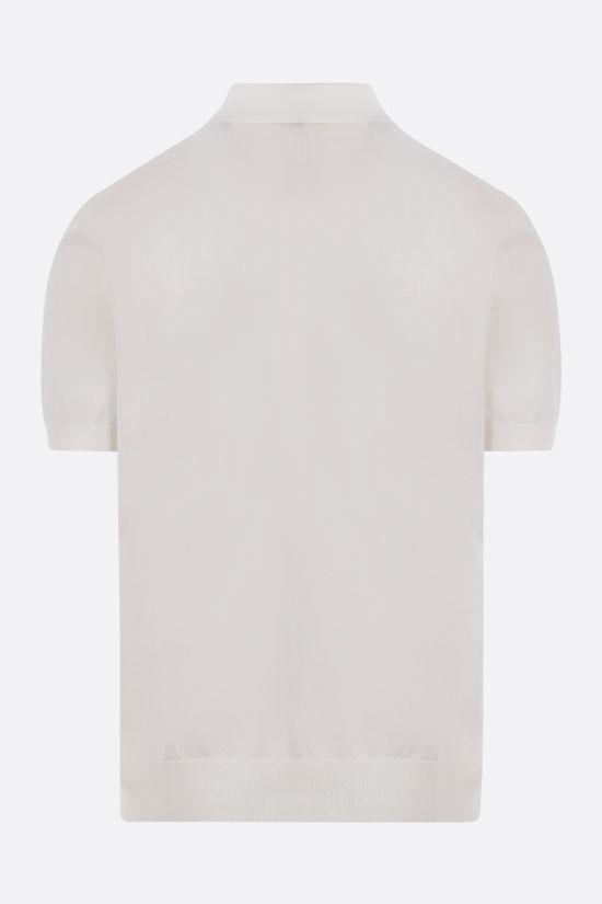 Z ZEGNA: cotton knit polo shirt Color Neutral_2