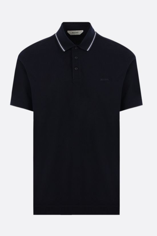 Z ZEGNA: stretch cotton polo Color Blue_1