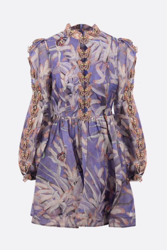 ZIMMERMANN: Botanica Butterfly organdy minidress Color Multicolor_1
