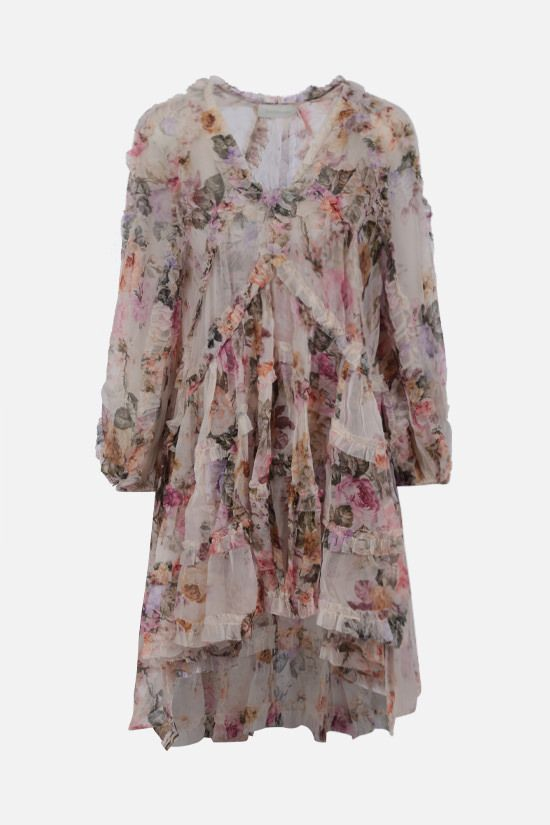 ZIMMERMANN: Brighton silk minidress Color Multicolor_1