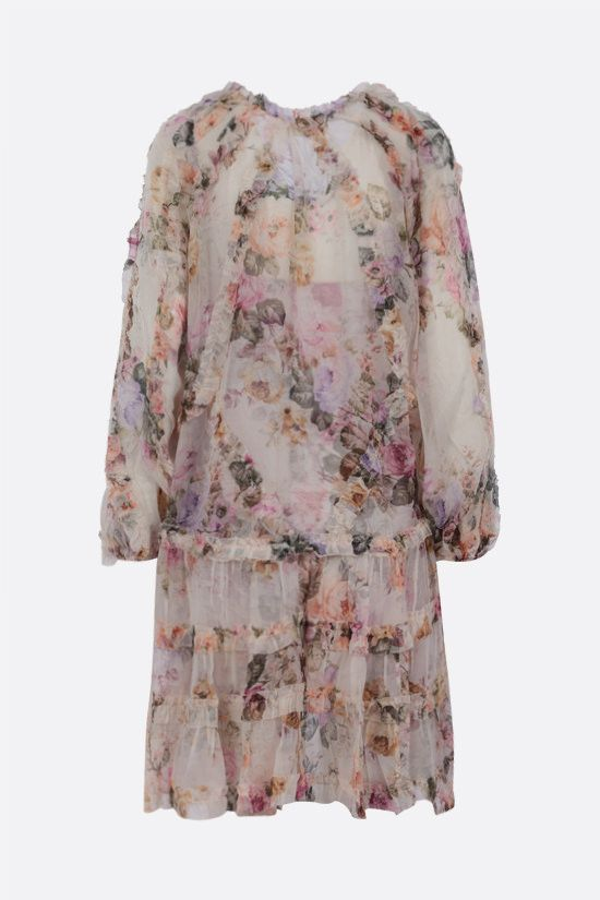 ZIMMERMANN: Brighton silk minidress Color Multicolor_2