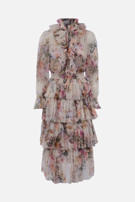 ZIMMERMANN: Birghton silk long dress Color Multicolor_1