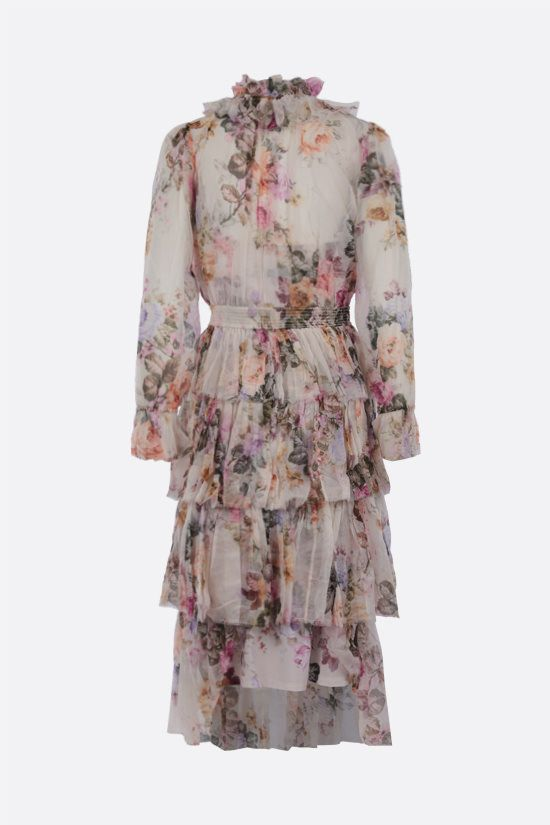ZIMMERMANN: Birghton silk long dress Color Multicolor_2