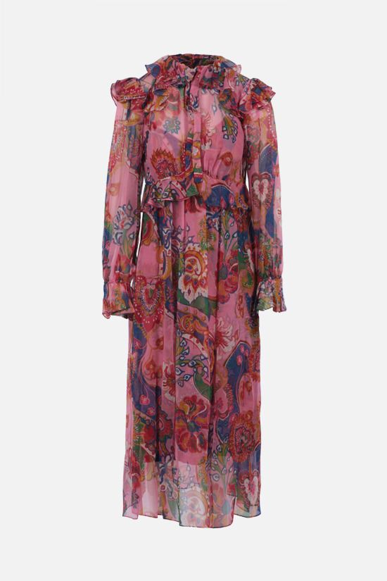 ZIMMERMANN: The Lovestruck silk midi dress Color Pink_1