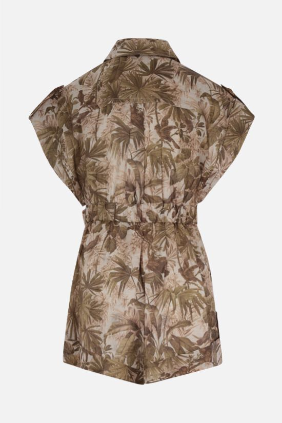 ZIMMERMANN: Brighton linen jumpsuit Color Brown_2