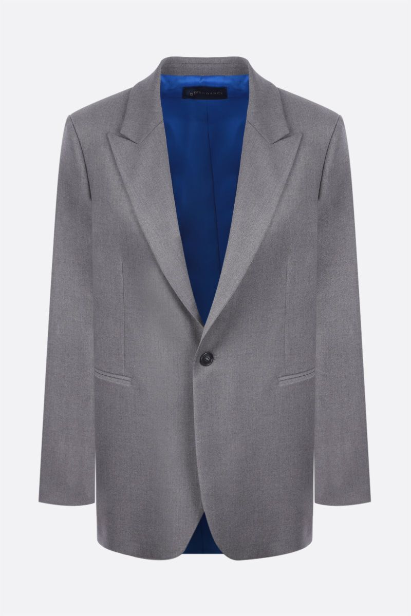 DEPENDANCE: Androgyne single-breasted twill jacket Color Grey_1