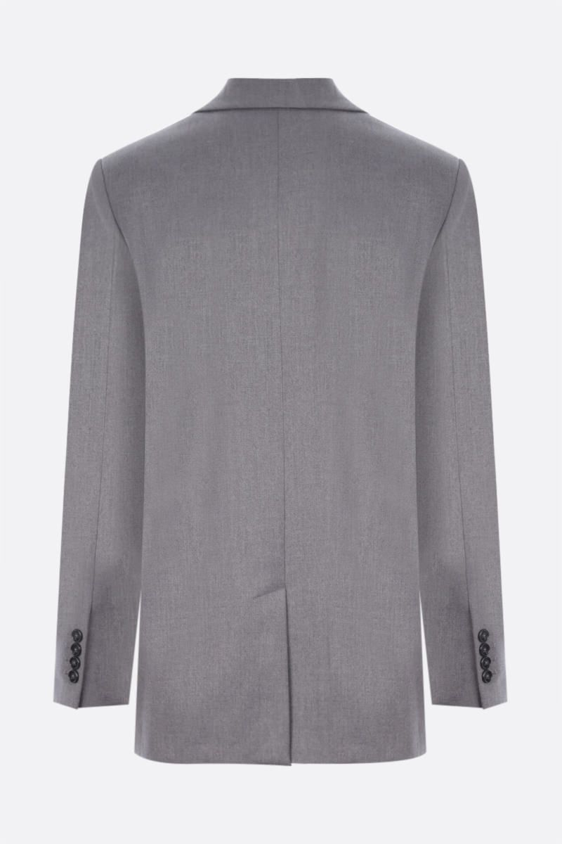 DEPENDANCE: Androgyne single-breasted twill jacket Color Grey_2