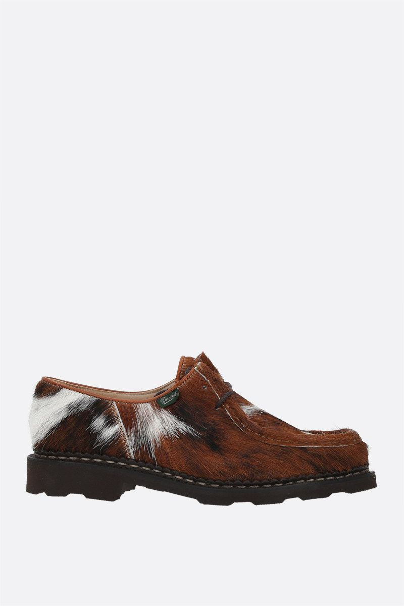 PARABOOT WOMAN: Michael/Grif pony hair derby shoes Color Brown_1