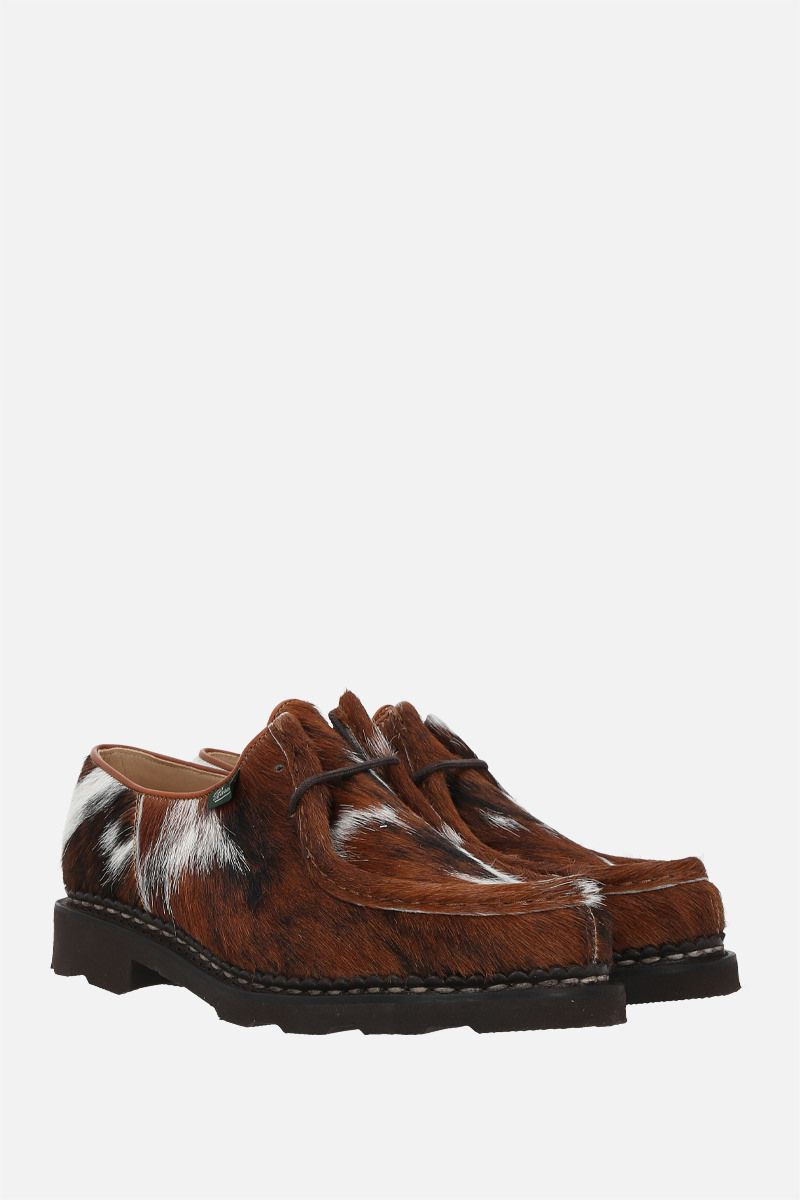 PARABOOT WOMAN: Michael/Grif pony hair derby shoes Color Brown_2