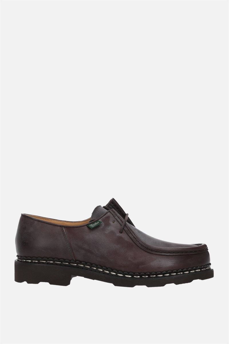 PARABOOT WOMAN: Michael/Griff II nubuk derby shoes Color Brown_1