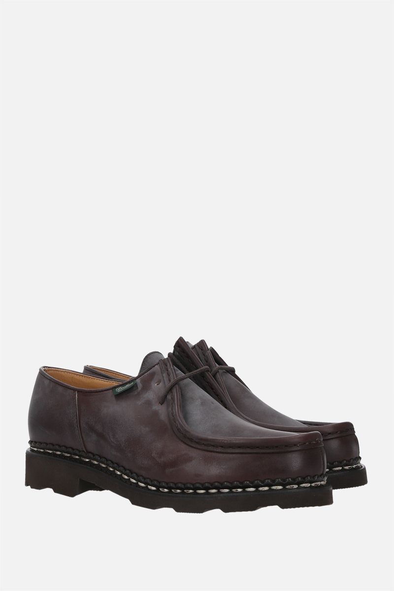 PARABOOT WOMAN: Michael/Griff II nubuk derby shoes Color Brown_2