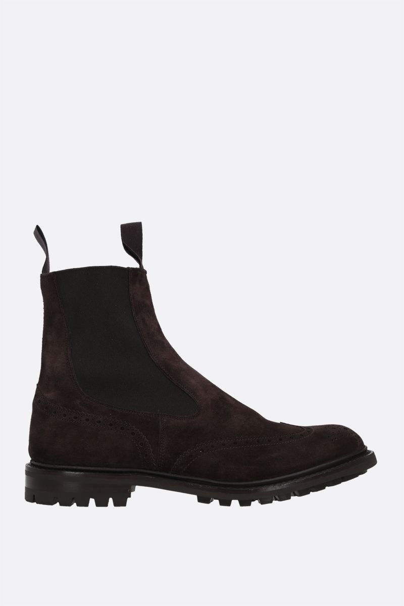 TRICKER'S: Henry suede chelsea boots Color Brown_1