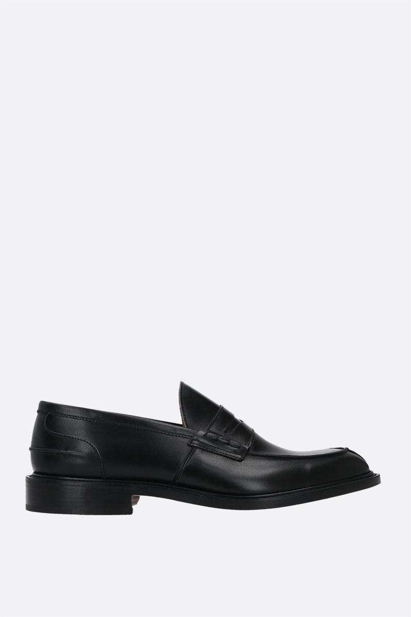 TRICKER'S: James loafers in Box leathers Color Black_1