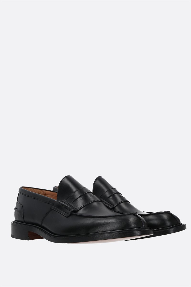 TRICKER'S: James loafers in Box leathers Color Black_2