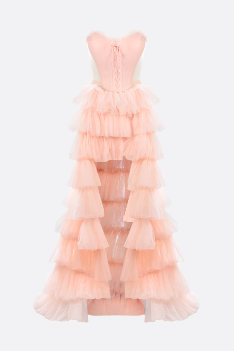 VERGUENZA: Bailarina tulle flounced skirt with bodice Color Pink_1