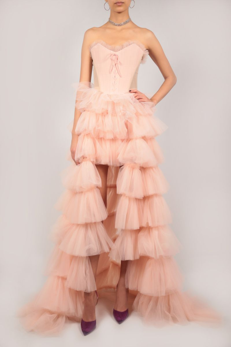 VERGUENZA: Bailarina tulle flounced skirt with bodice Color Pink_2