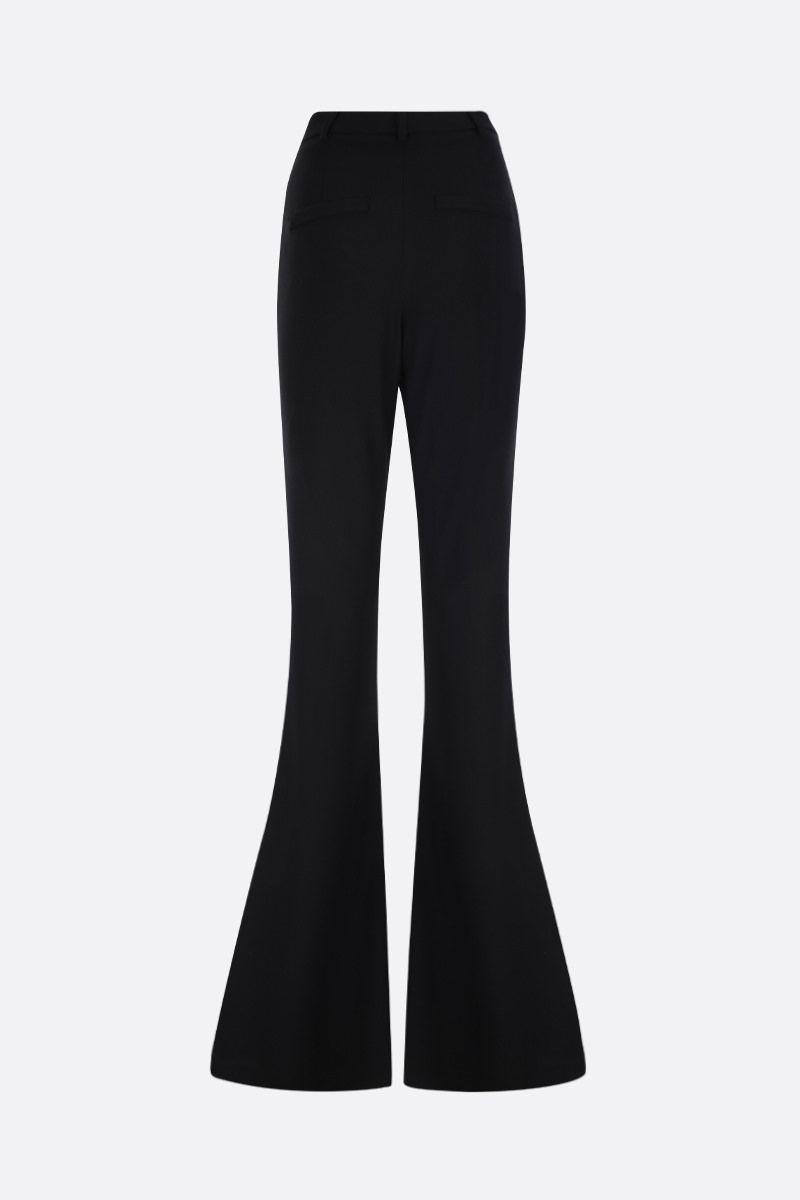 HEBE STUDIO: cady flare pants Color Black_2