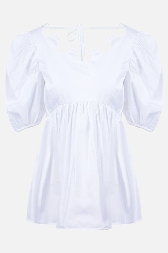CECILIE BAHNSEN: Hope organic cotton blouse Color White_1