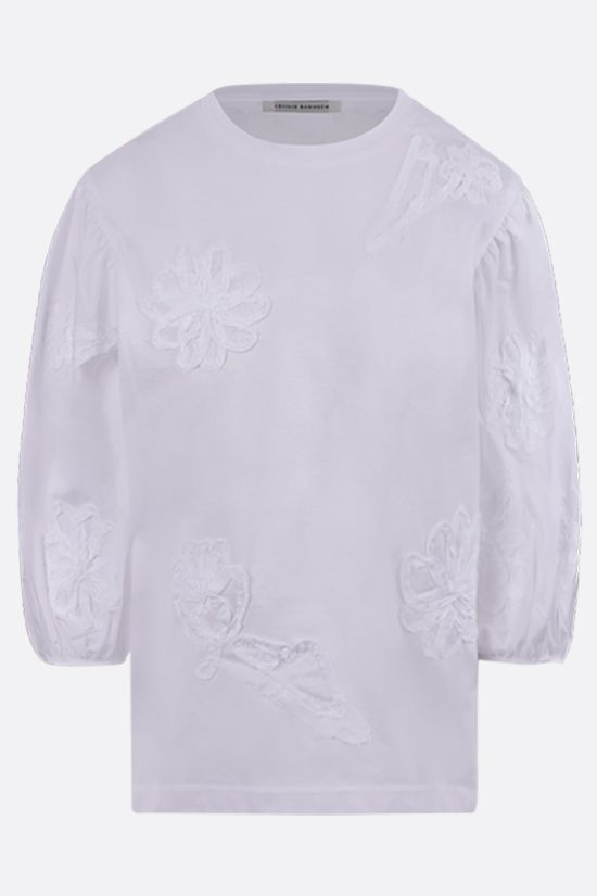 CECILIE BAHNSEN: Clay cotton t-shirt Color White_1