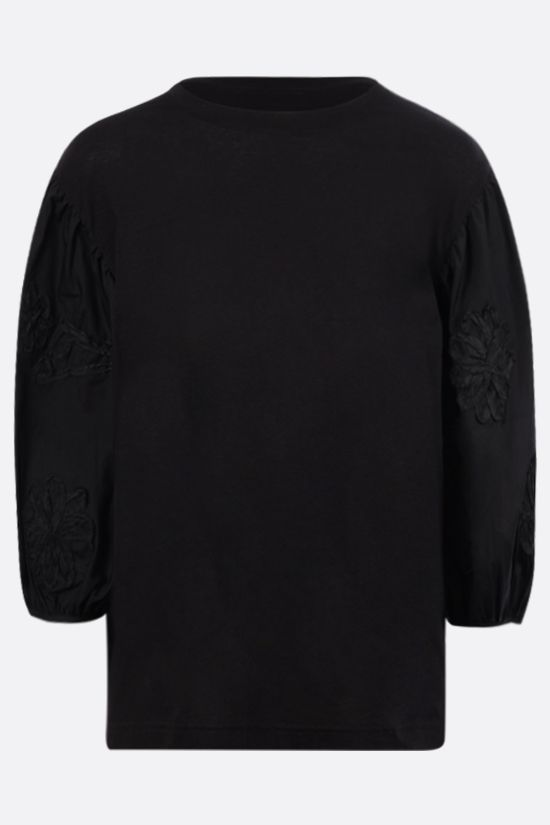 CECILIE BAHNSEN: Candy cotton t-shirt Color Black_1