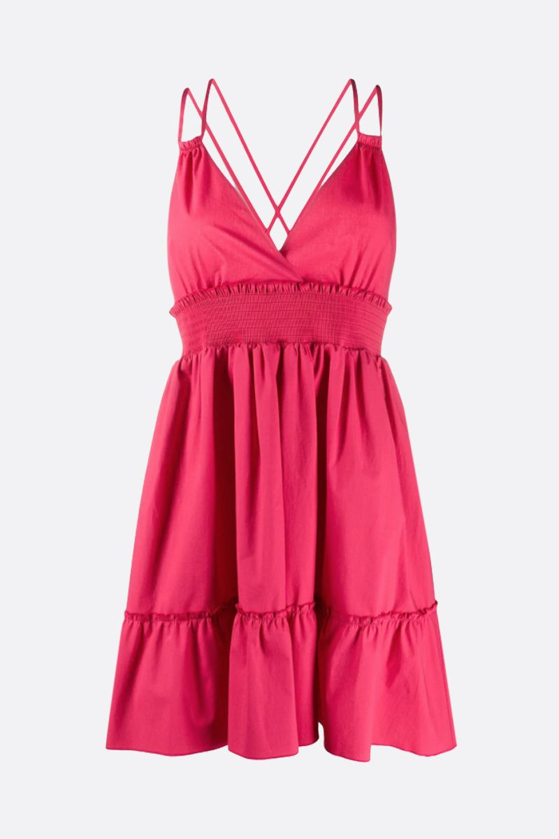RED VALENTINO: stretch poplin short dress Color Red_1