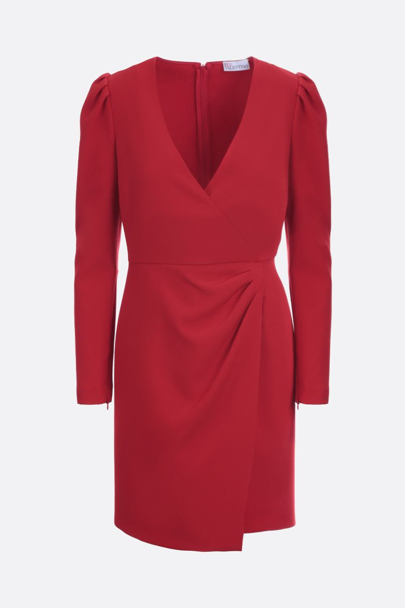 RED VALENTINO: stretch double crepe wrap dress Color Red_1