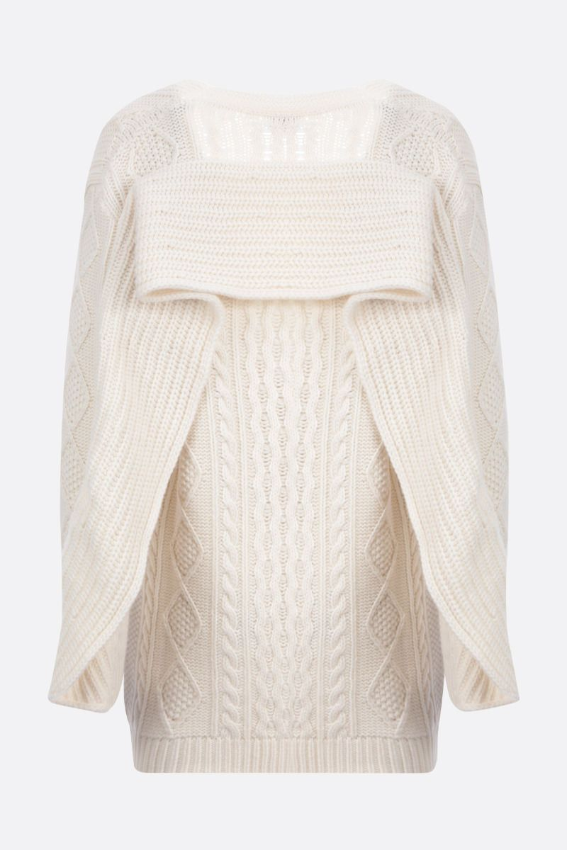 RED VALENTINO: wool cashmere blend cardigan Color White_2