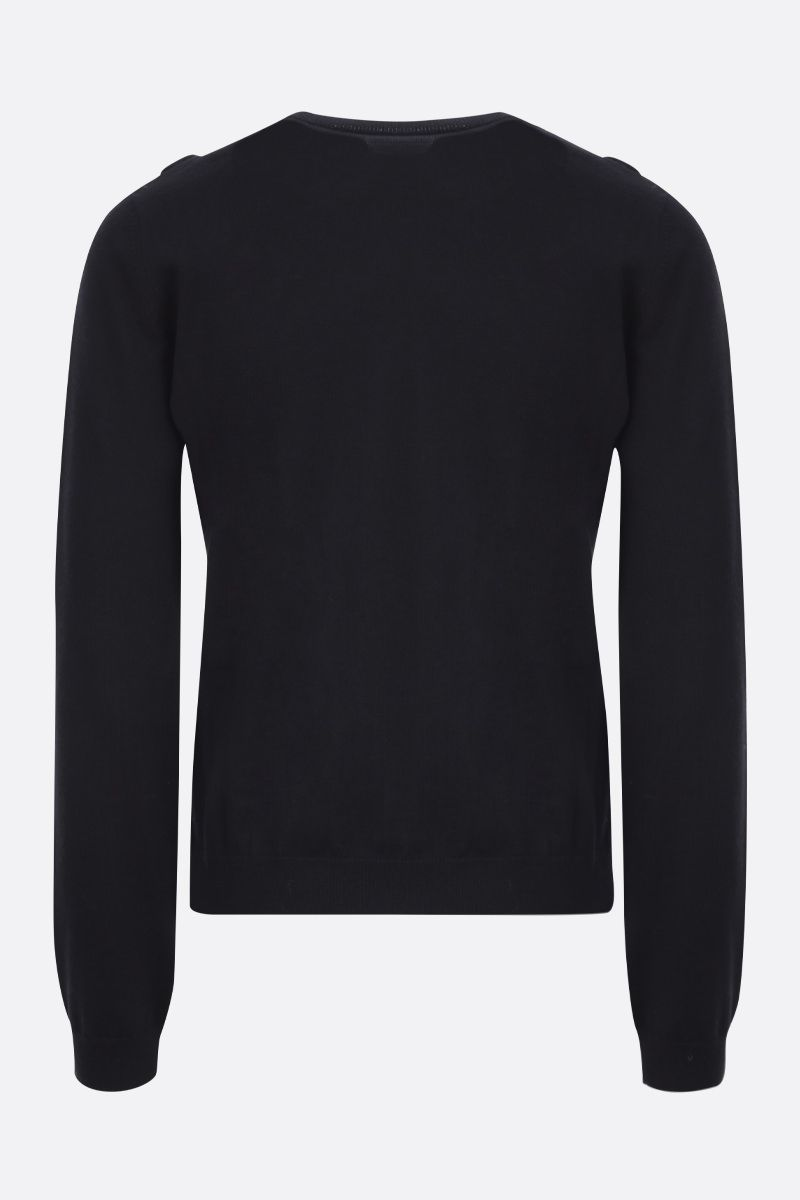 RED VALENTINO: pullover in lana con rouches Colore Nero_2