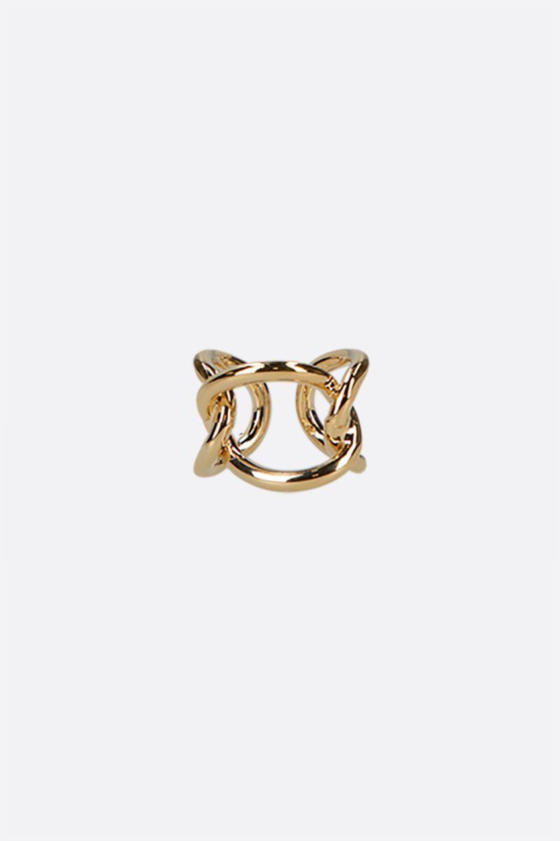 FEDERICA TOSI: Bolt brass ring Color Gold_1