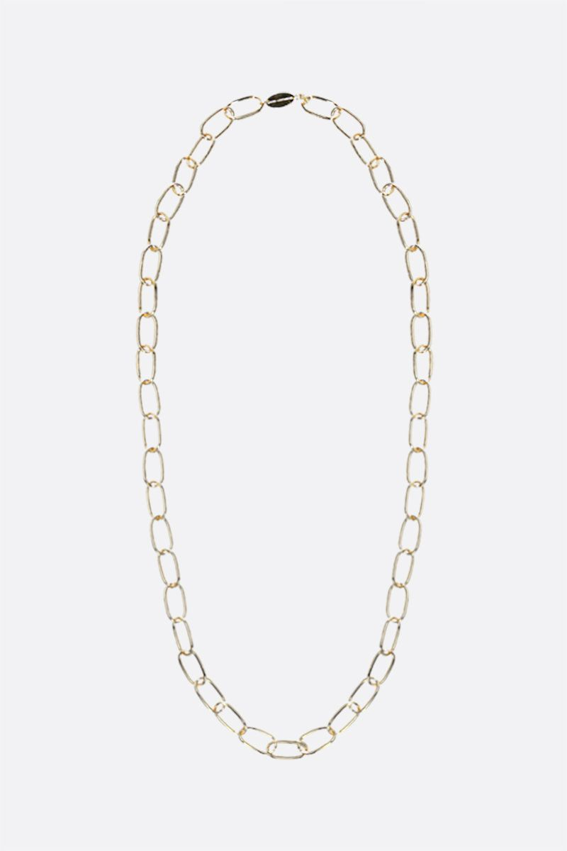 FEDERICA TOSI: Long Bolt brass necklace Color Gold_1