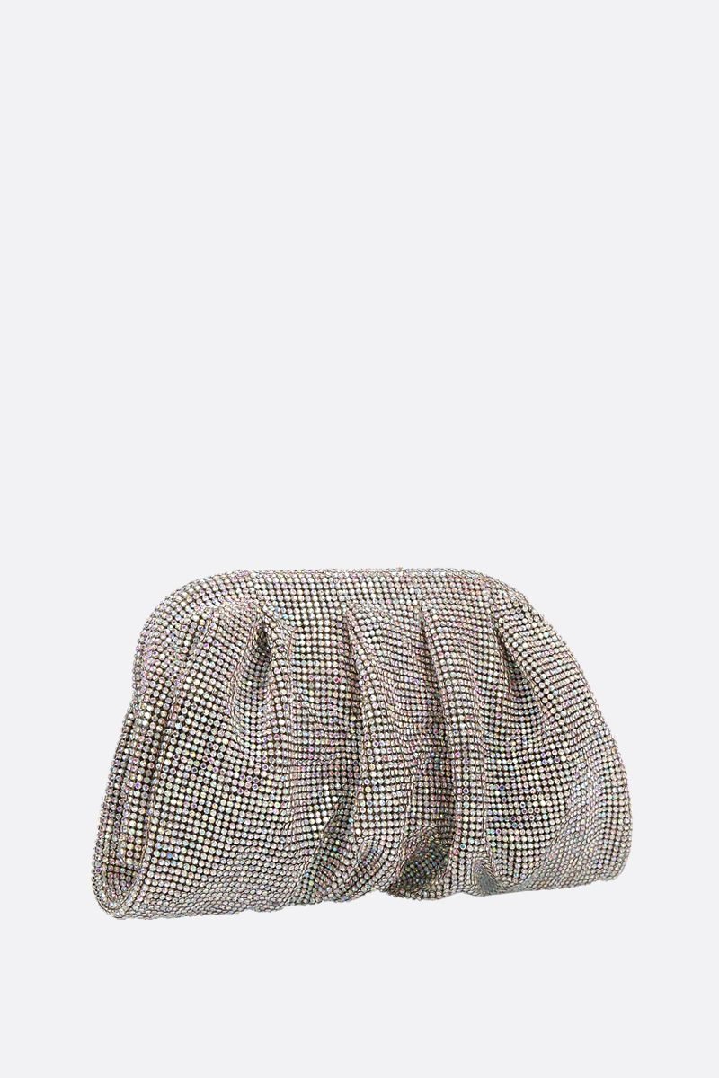 BENEDETTA BRUZZICHES: Venere small crystal-embellished metal mesh clutch_2