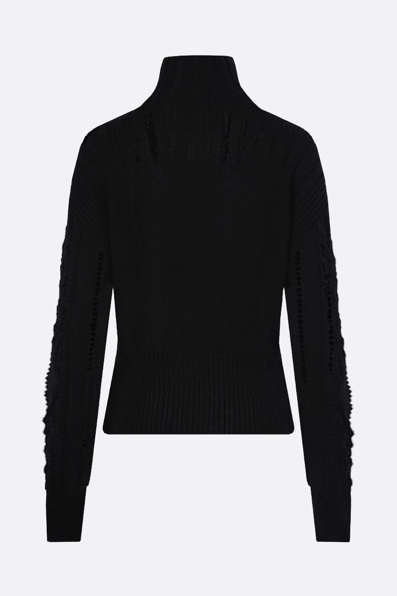 SEE BY CHLOÈ: wool blend zipped cardigan Color Black_2
