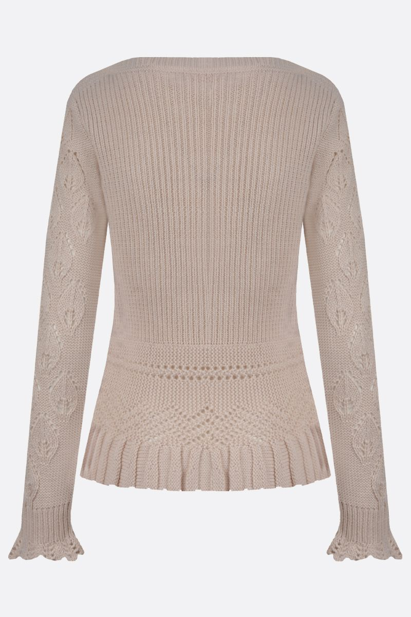 SEE BY CHLOÈ: wool blend pullover Color White_2