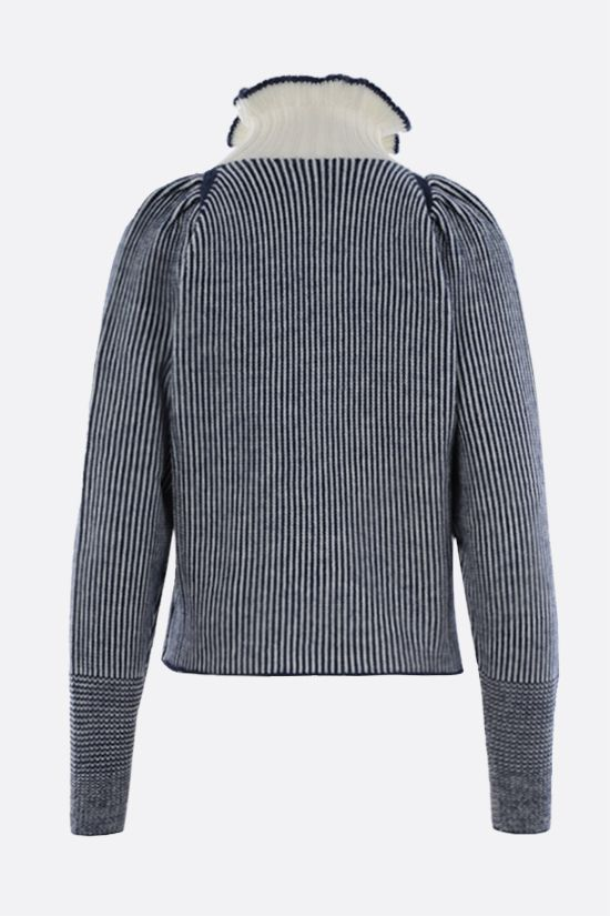 SEE BY CHLOÈ: wool blend ribbed-knit pullover Color White_2