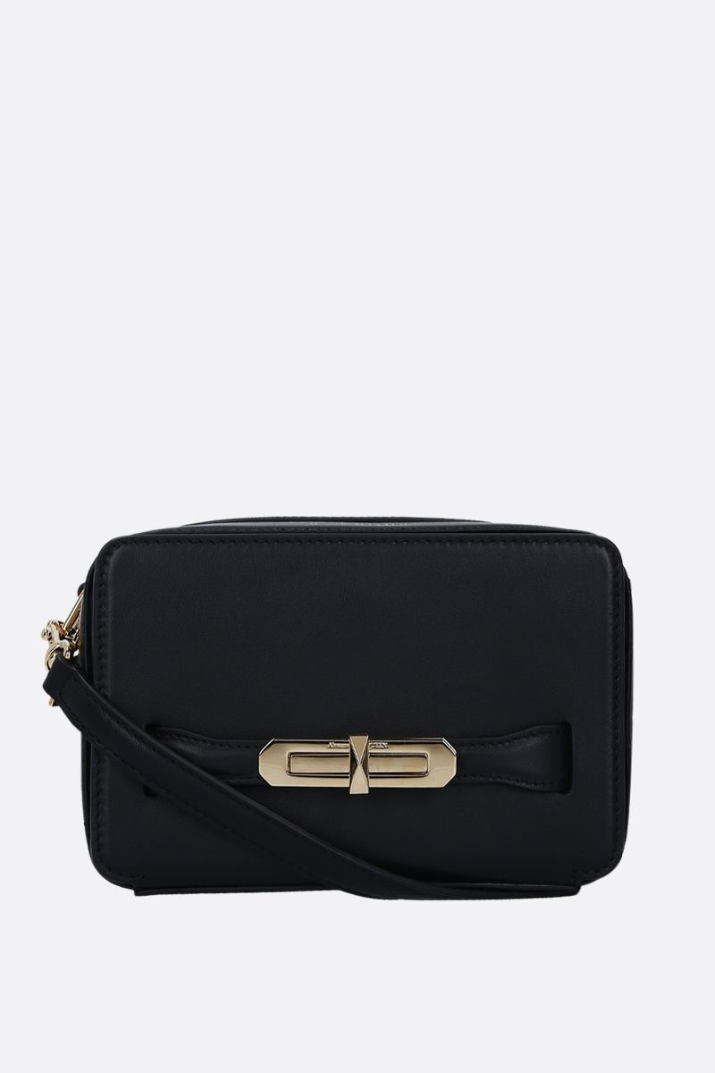 ALEXANDER McQUEEN: The Myth crossbody bag in smooth leather Color Black_1