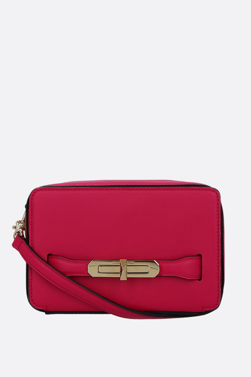 ALEXANDER McQUEEN: The Myth crossbody bag in smooth leather Color Pink_1