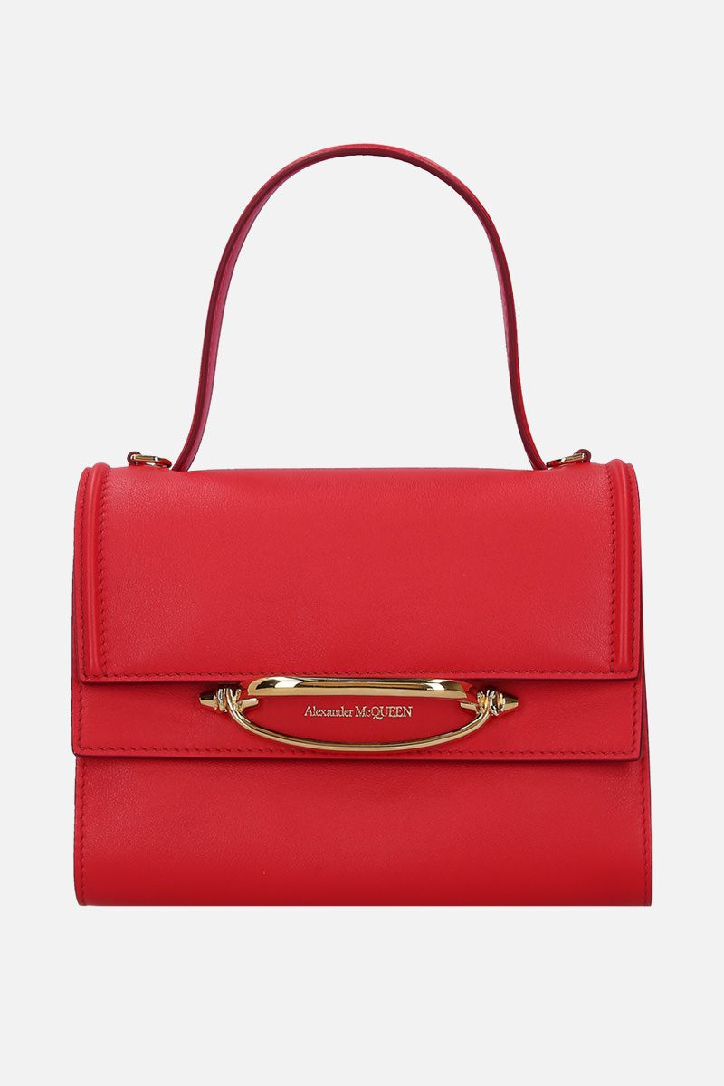 ALEXANDER McQUEEN: The Story crossbody bag in smooth leather Color Red_1